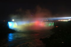Niagara's Horseshoe Falls Falls at Night Stock Photography