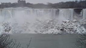 Niagara sotto zero Fotografia Stock