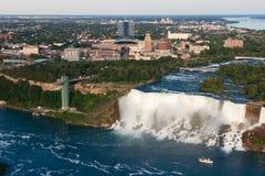 Niagara Spada USA widok z lotu ptaka Obrazy Royalty Free