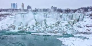 Niagara Spadać w Zima Obrazy Royalty Free