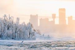Niagara Spada w zimie, usa zdjęcia royalty free