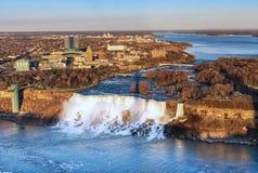 Niagara Spada widoku z lotu ptaka kanadyjczyk obrazy stock
