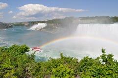 Niagara spadek z raibow Zdjęcia Stock