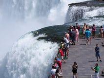 Niagara spadki, krawędź Amerykańscy spadki fotografia royalty free