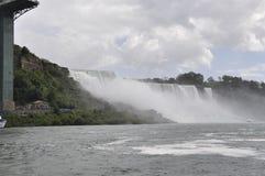 Niagara spadki, 24th Czerwiec: Stany Zjednoczone strona od Niagara spadków Zdjęcia Royalty Free