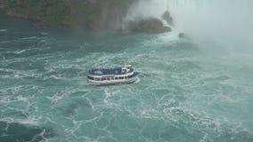 Niagara spadki - Wielka siklawa W Północna Ameryka zbiory wideo