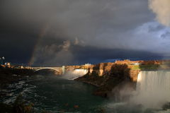 Niagara before the storm. A storm is aproaching to Niagara stock photography