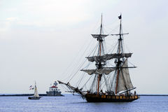 Niagara Tallship Sails up, lighthouse stock photos