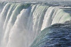 Niagara Top of Horseshoe Falls. The might Niagara river flowing over the top of Horseshoe Falls in Canada royalty free stock photos
