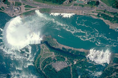 Niagara valt ariel schot stock fotografie