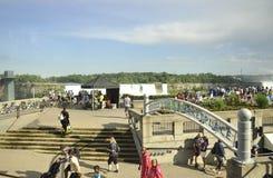 Niagara valt, 24 Juni: De grote meningsplaats van Niagara valt van de Provincie van Ontario van Canada Royalty-vrije Stock Foto's