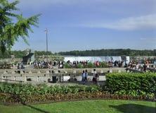 Niagara valt, 24 Juni: De grote meningsplaats van Niagara valt van de Provincie van Ontario van Canada Royalty-vrije Stock Fotografie
