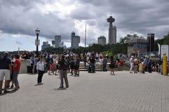 Niagara valt, 24 Juni: De grote meningsplaats van Niagara valt van de Provincie van Ontario van Canada Royalty-vrije Stock Afbeelding