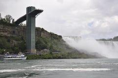 Niagara valt, 24 Juni: De Kant van Verenigde Staten van Niagara-Dalingen Royalty-vrije Stock Fotografie