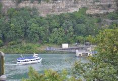 Niagara valt, 24 Juni: De Kant van Verenigde Staten van Niagara-Dalingen Stock Foto