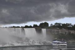 Niagara valt, 24 Juni: De Kant van Verenigde Staten van Niagara-Dalingen Royalty-vrije Stock Foto