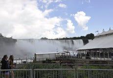Niagara valt, 24 juni: De Plaats van de Hornblowercruise van Niagara-Val van de provincie van Ontario in Canada Royalty-vrije Stock Foto's