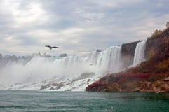 Niagara valt zijaanzicht Stock Foto