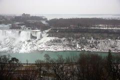 Niagara waterfall in winter Stock Photos