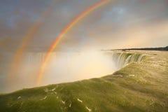 Niagara Falls and double rainbow