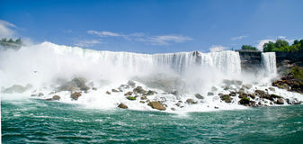 Niagara waterfalls. Panoramic picture of small Niagara waterfalls Royalty Free Stock Photography