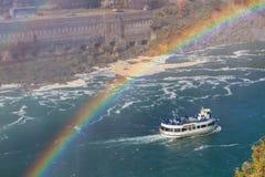 Niagaradalingen in de herfst, de V.S. stock foto's