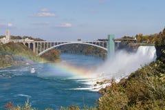 Niagaradalingen in de herfst, de V.S. Royalty-vrije Stock Foto