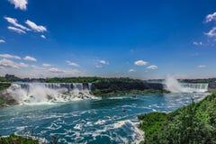 Niagaradalingen van de Canadese kant Stock Foto