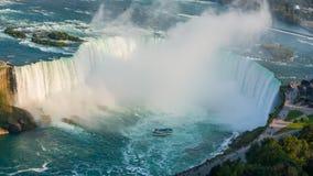 Niagaradalingen van de kant van Canada stock footage