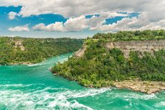 Niagaradraaikolk van Niagara-rivier, Ontario, Canada Stock Foto