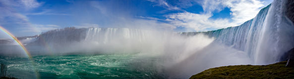 Niagarapanorama stock afbeeldingen