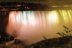 NiagNara Falls Iluminations stock images