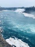 Niagra faller den kanadensiska sidan arkivfoton
