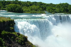 Niagra Falls. A view of Niagra Falls during a sunny day Royalty Free Stock Image