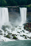 Niagra Falls. With the view of the stairs with people climbing up and down royalty free stock photos