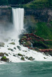 Niagra Falls. With the view of the stairs with people climbing up and down stock photography