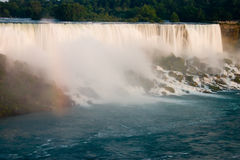 Niagra Falls. With a small rainbow stock photos