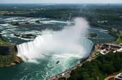 Niagra Falls. Birds eye view of Niagra Falls Horseshoe Falls - landscape version Royalty Free Stock Photography
