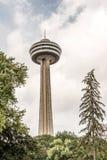 Niagra Falls Canada 06.09.2017 Skylon observation tower overlooks both American Falls and Horseshoe Falls Ontario royalty free stock image