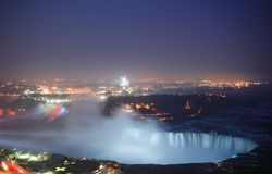 Niagra falls at night Stock Image