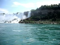 Niagra Falls From the Side Stock Photography