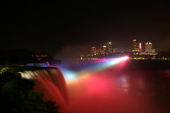 Niagra at night Royalty Free Stock Photos