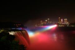 Niagra at night. Night view of Niagara falls from USA side Royalty Free Stock Photos
