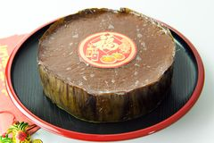 Nian Gao or glutinous rice cake. Nian Gao or Chinese glutinous rice cake Stock Images