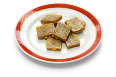 Nian gao, chinese new year rice cake. Cooked