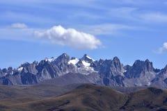 Nianbaoyuze mountain peaks Stock Photos