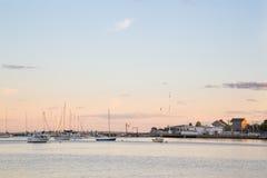 Niantic zatoka, Evening Zdjęcia Royalty Free