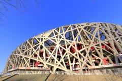 Niaochao, Peking das Olympiastadion Lizenzfreie Stockfotos