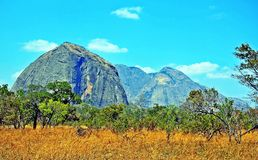 Niassa Gubernialny Landscape_Northern Mozambik Zdjęcia Stock