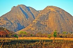 Niassa Province Landscape_Northern Mozambique. Much of Niassa Province in Northern Mozambique is dotted with huge granite hills and mountains called Inselbergs Stock Image